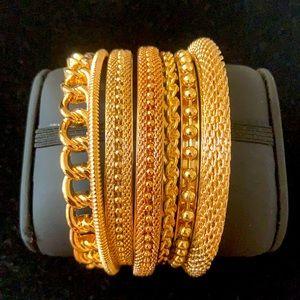 R.J. Graziano Assorted Bangle Bracelets Set of 7